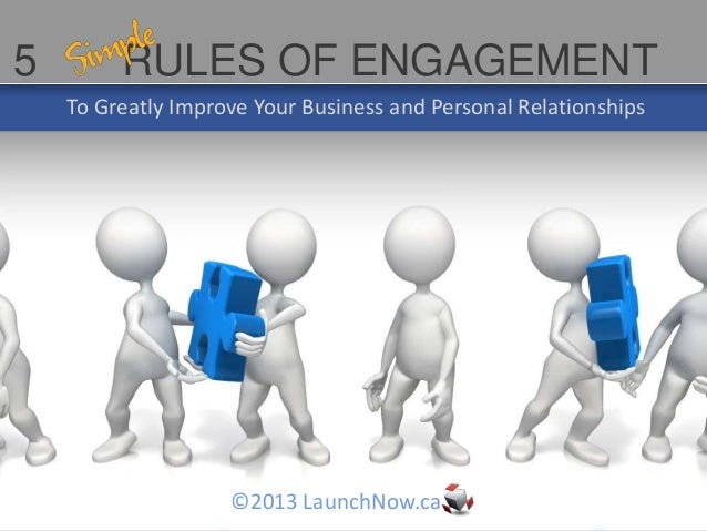 5        RULES OF ENGAGEMENT    To Greatly Improve Your Business and Personal Relationships                    ©2013 Launc...