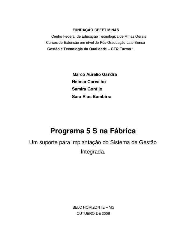 FUNDAÇÃO CEFET MINAS Centro Federal de Educação Tecnológica de Minas Gerais Cursos de Extensão em nível de Pós-Graduação L...
