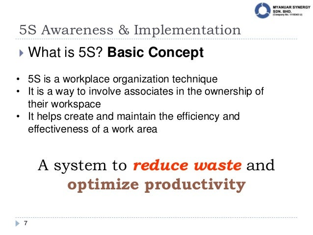 5S: Awareness & Implementation