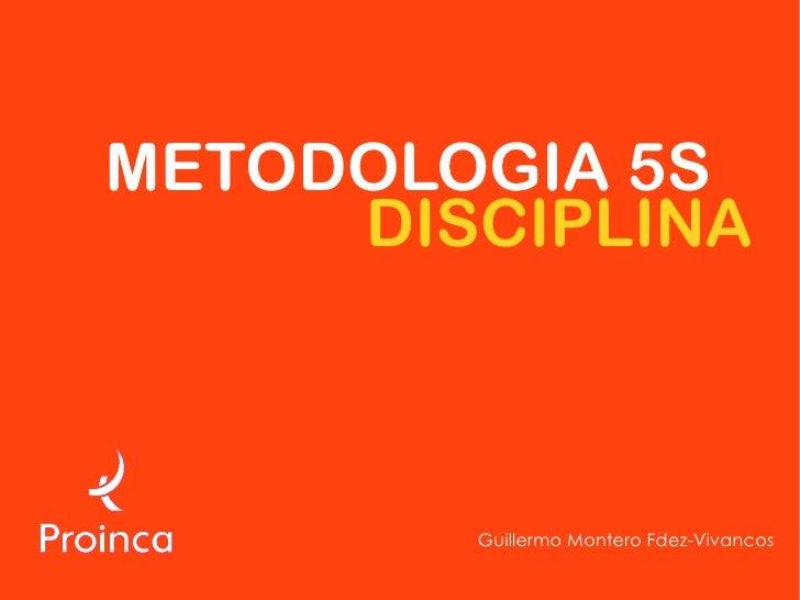 METODOLOGIA 5S      DISCIPLINA            Guillermo Montero Fdez-Vivancos