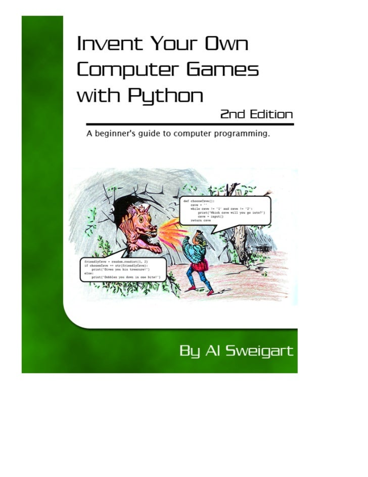 """Copyright 2008, 2009 © by Albert Sweigart""""Invent Your Own Computer Games with Python"""" is licensed under a Creative Commons..."""