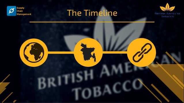 supply chain management british american tobacco With background more than 13 years in the supply chain and costumer logistics development, transportation and export import industry highly developed skills in problem identification and implementation of effective solutions and proven track record of project management.