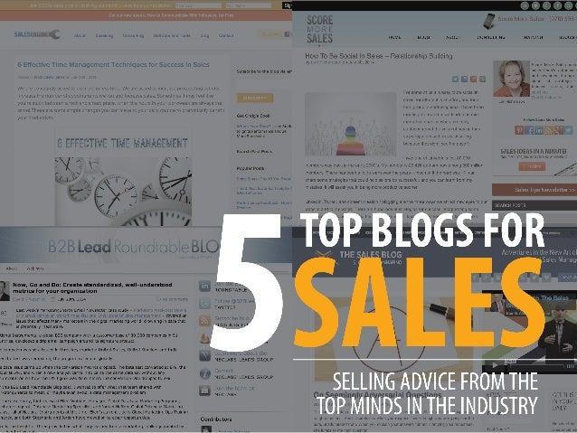 5 Must-Read Sales Blogs