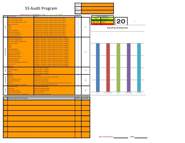 Free - 5 S Audit Template