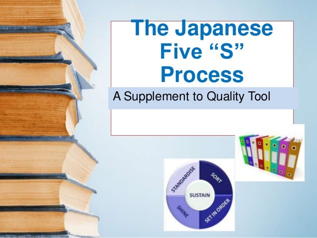 "The Japanese  Five ""S""  Process  A Supplement to Quality Tool"