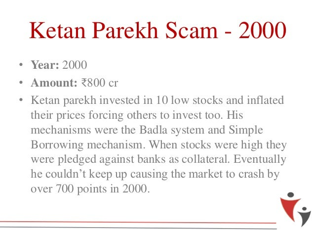 "ketan parekh scam Through this article, i have explained the modus operandi of the ""ketan parekh  scam"" in a simple language without any technical jargon so that."