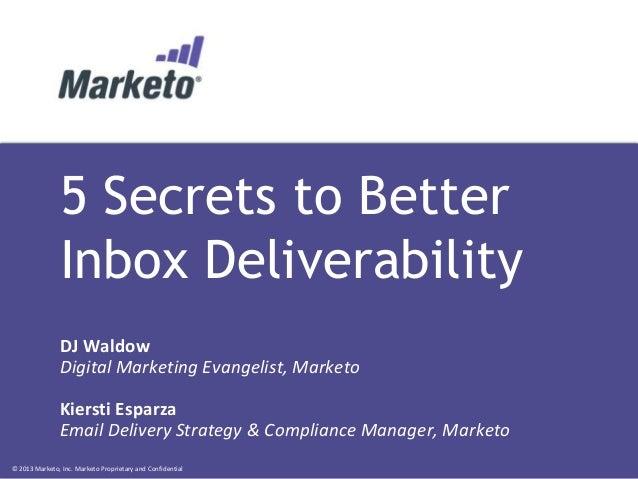 5 Secrets to Better Inbox Deliverability