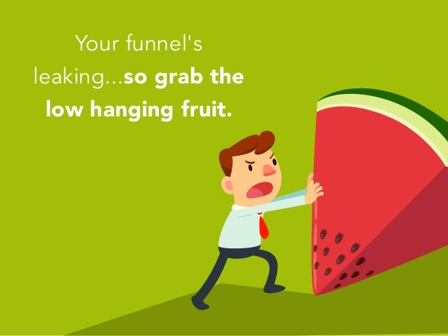 Your funnel's leaking...so grab the low hanging fruit.