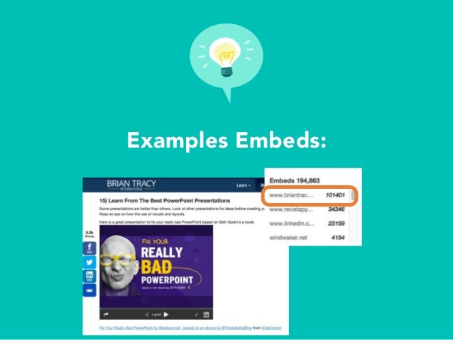 Examples Embeds: