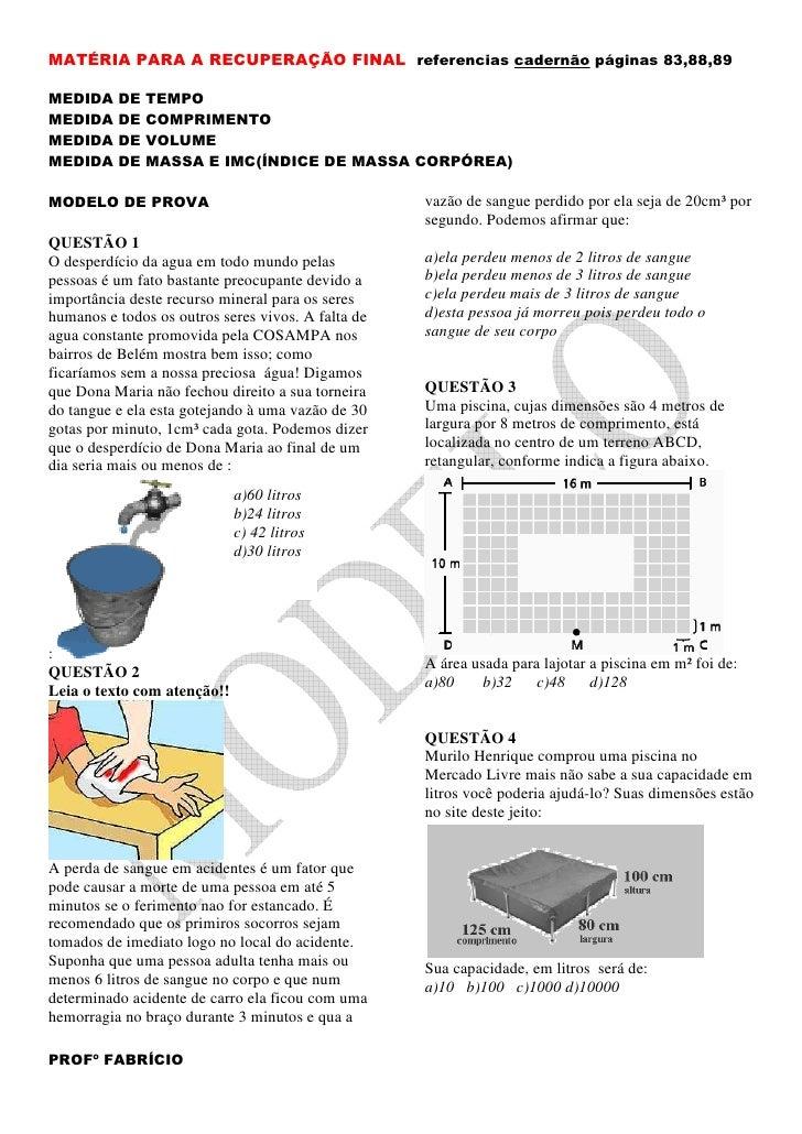 MATÉRIA PARA A RECUPERAÇÃO FINAL referencias cadernão páginas 83,88,89  MEDIDA    DE   TEMPO MEDIDA    DE   COMPRIMENTO ME...