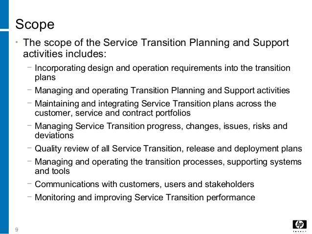 5 Service Transition