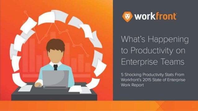 What's Happening to Productivity on Enterprise Teams 5 Shocking Productivity Stats From Workfront's 2015 State of Enterpri...