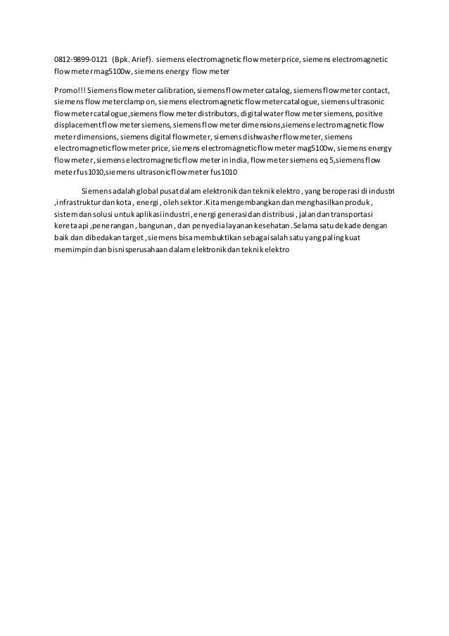 0812-9899-0121 (Bpk.Arief). siemenselectromagneticflow meterprice,siemenselectromagnetic flowmetermag5100w, siemensenergy ...