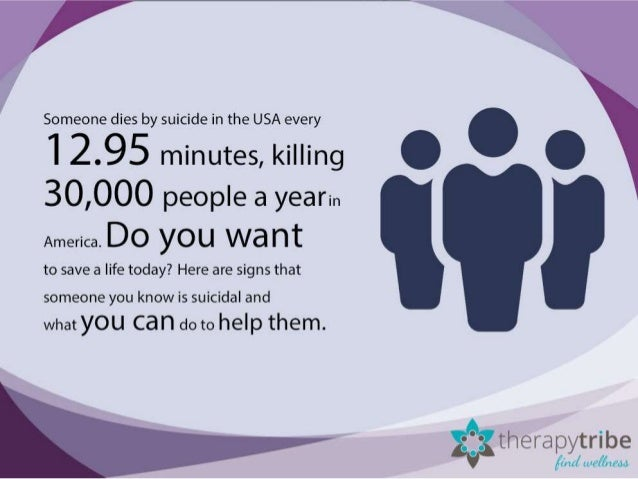 5 signs a person is suicidal