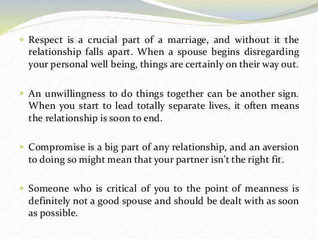 When is it time to separate in a marriage