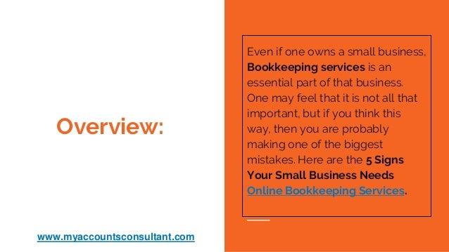 bookkeeping foe small business