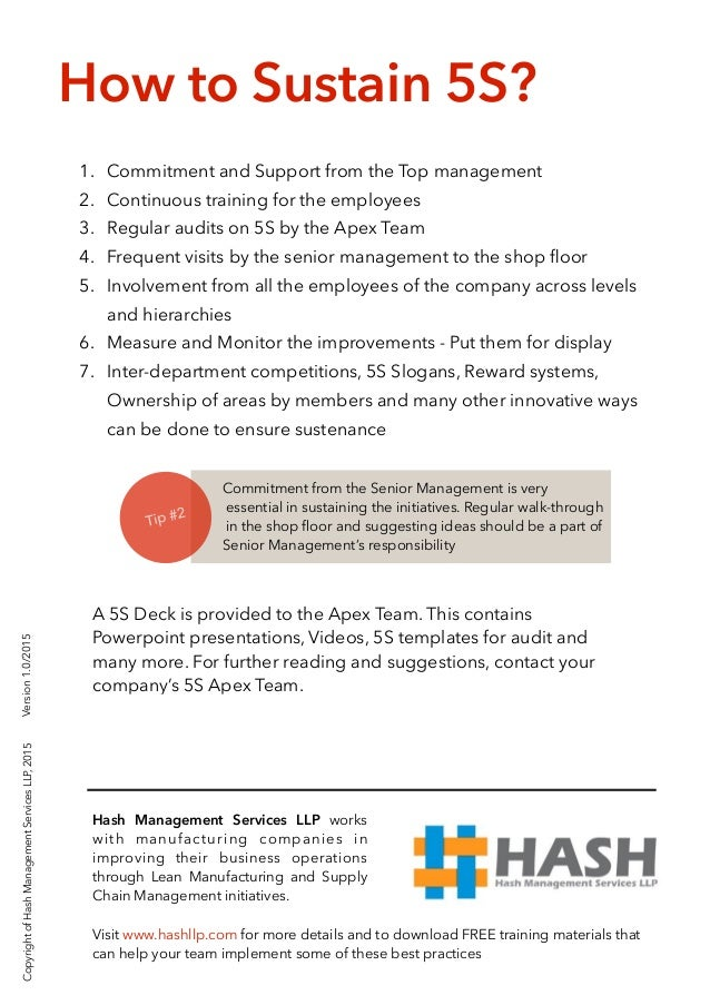 5s A Step By Step Approach To Implement 5s At Your Workplace
