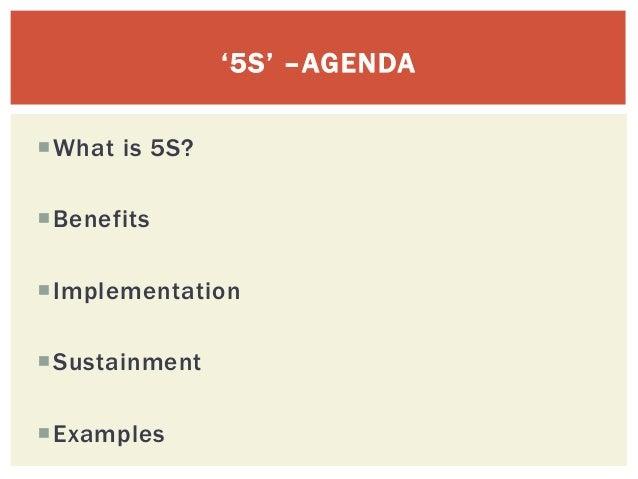5 S ~ implementation presentation Slide 2
