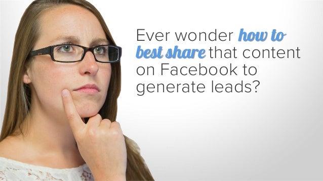 5 Simple Secrets to B2B Lead Generation on Facebook Slide 3