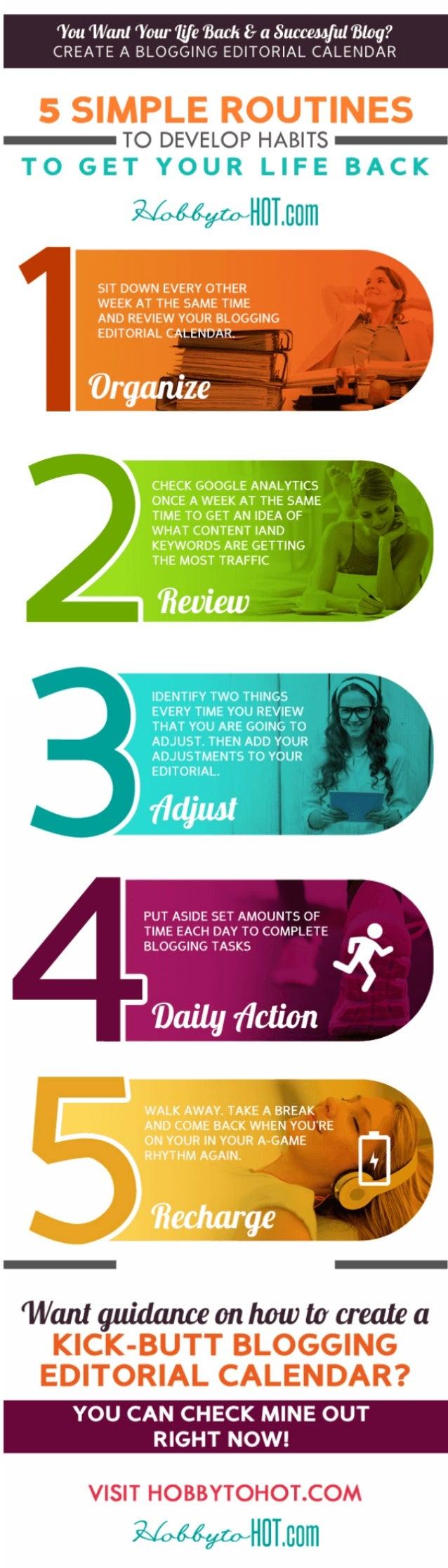 5 Simple Steps to Balance Blogging AND Your Life!  HobbytoHOT.com #bloggingtips #blog