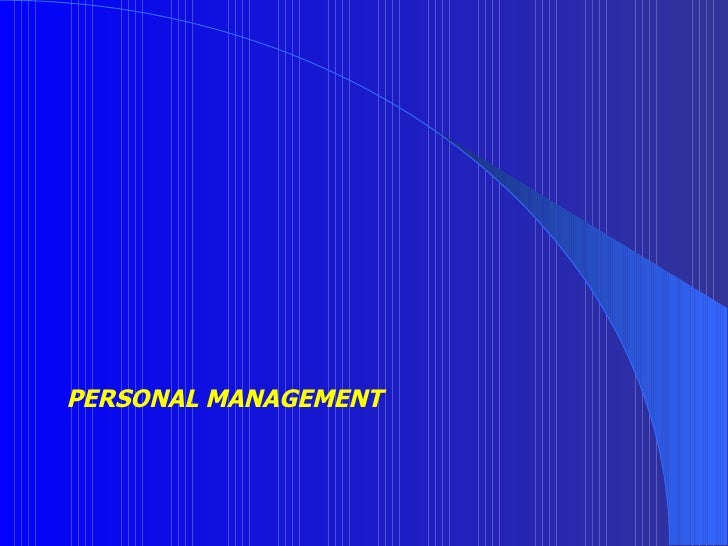 PERSONAL MANAGEMENT