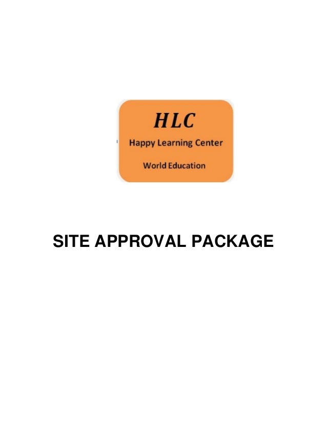 SITE APPROVAL PACKAGE