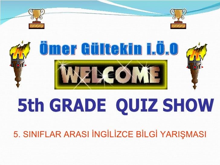 5th Grades Quiz Competition