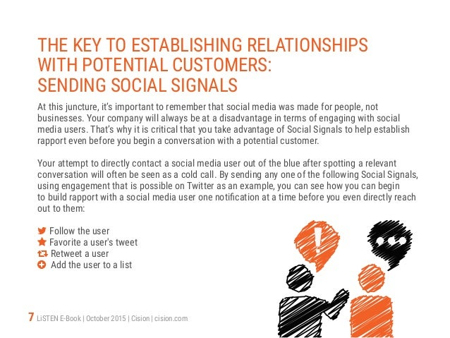7 LiSTEN E-Book   October 2015   Cision   cision.com THE KEY TO ESTABLISHING RELATIONSHIPS WITH POTENTIAL CUSTOMERS: SENDI...
