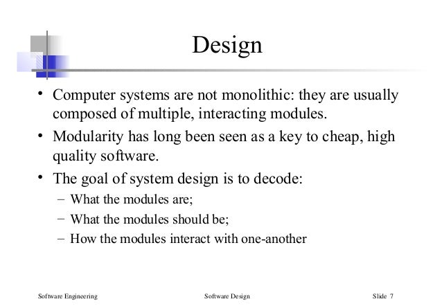 Modular Design System Architecture In Software Design Specification