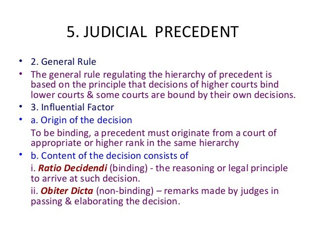 doctrine of binding judicial precedent