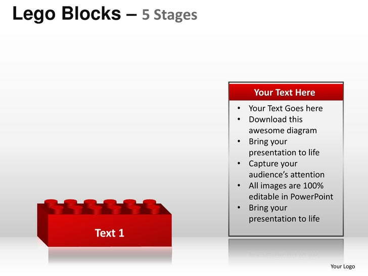 5 stages lego blocks powerpoint templates