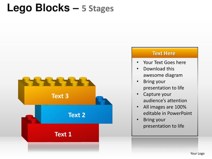 5 stages lego blocks powerpoint templates 5 lego blocks ccuart Image collections