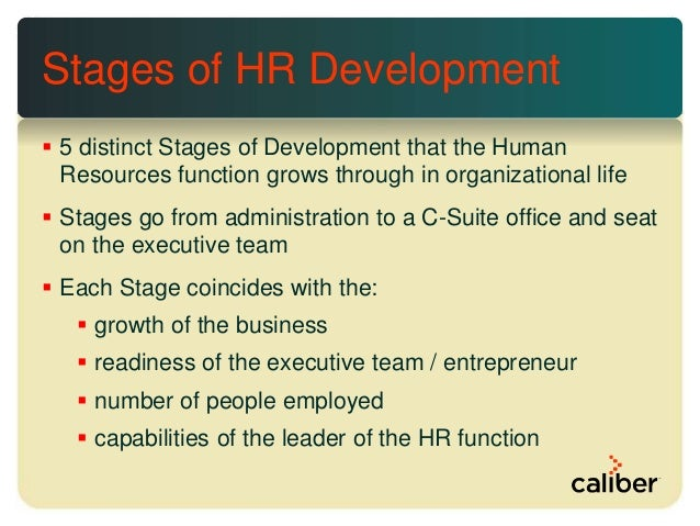 From Administration to C-Suite: The Five Stages of Human ...