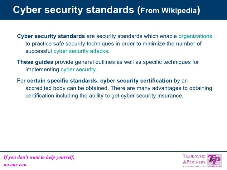 5 Standards And Recommendations For Information Security On