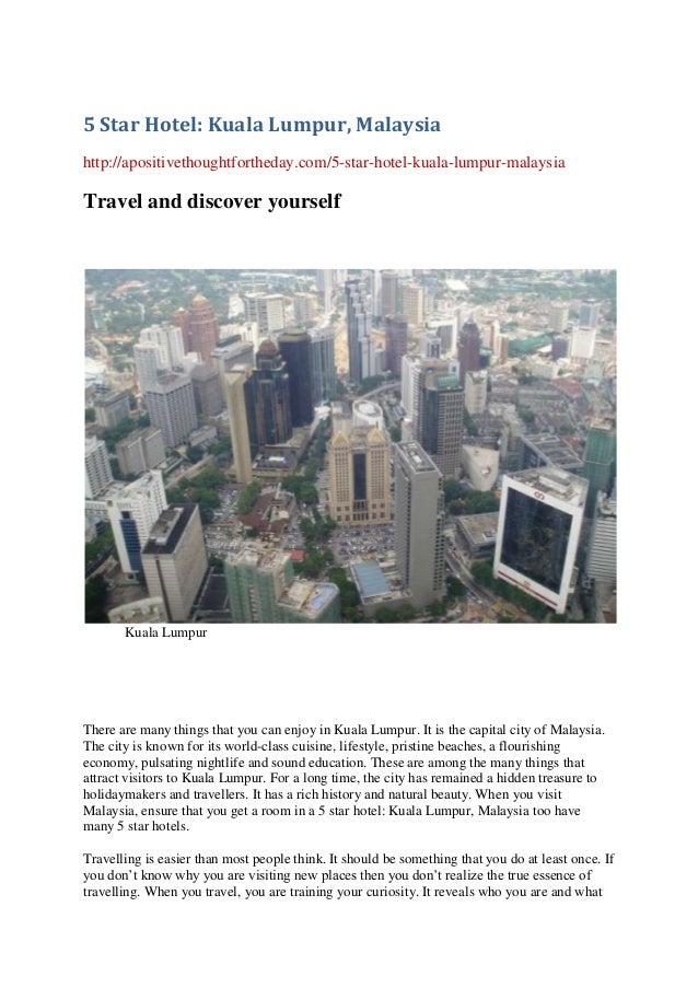 5 Star Hotel Kuala Lumpur Malaysia