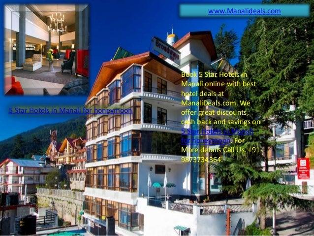5 star hotels in manali for honeymoon