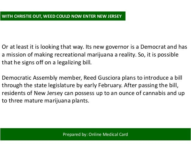 Prepared by: Online Medical Card MICHIGAN WITH OLD-SCHOOLED BALLOT INITIATIVE While New Jersey and Vermont are taking mari...