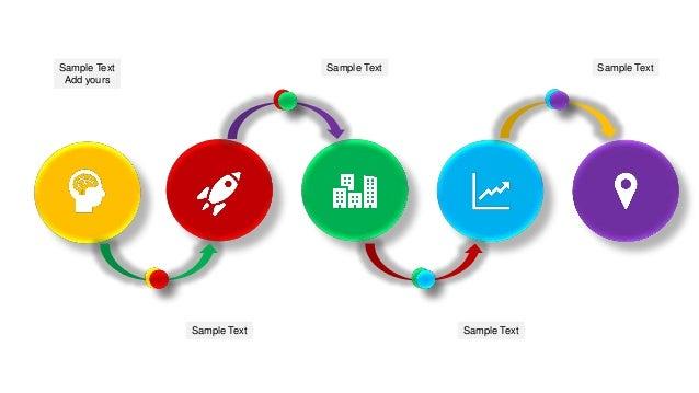 5 step process flow diagram ppt template