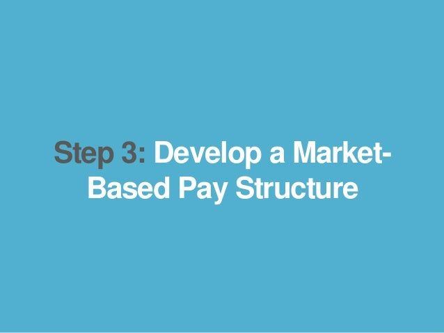 bamboohr.com payscale.com 5 Steps to a Smart Compensation Plan Step 3: Develop a Market- Based Pay Structure
