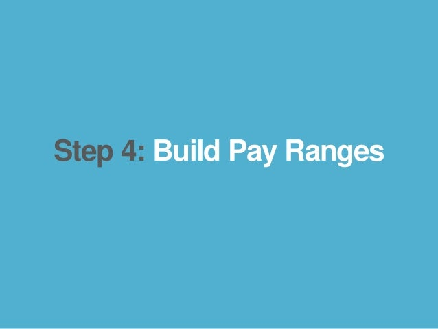 bamboohr.com payscale.com 5 Steps to a Smart Compensation Plan Step 4: Build Pay Ranges
