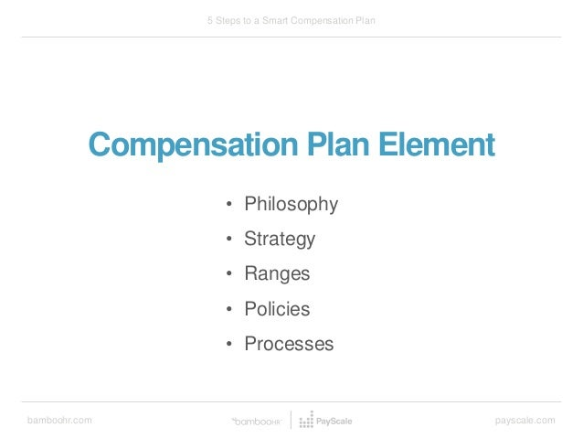 bamboohr.com payscale.com 5 Steps to a Smart Compensation Plan Compensation Plan Element • Philosophy • Strategy • Ranges ...