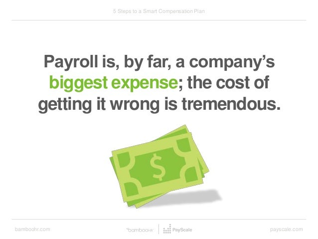 bamboohr.com payscale.com 5 Steps to a Smart Compensation Plan Payroll is, by far, a company's biggest expense; the cost o...