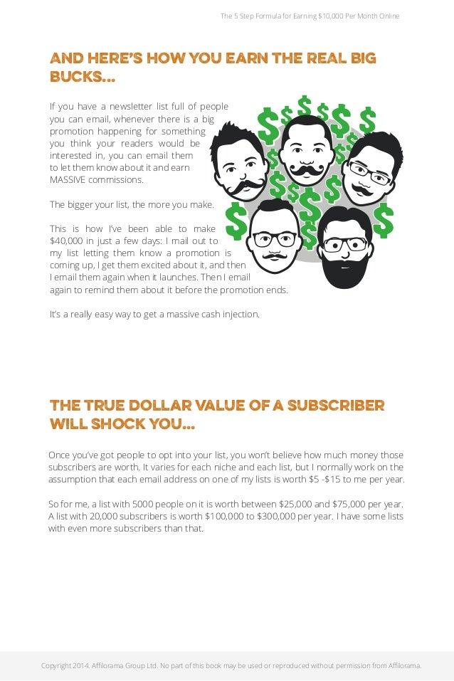 5 Step Formula For Making $10K A Month Online