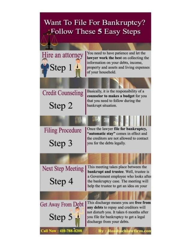5 Steps For Filing Bankruptcy