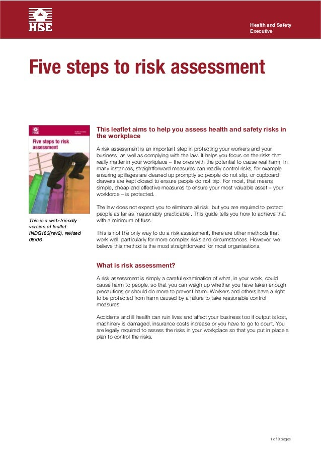 5 Steps To Becoming Wealthy: 5 Steps Risk Assessment