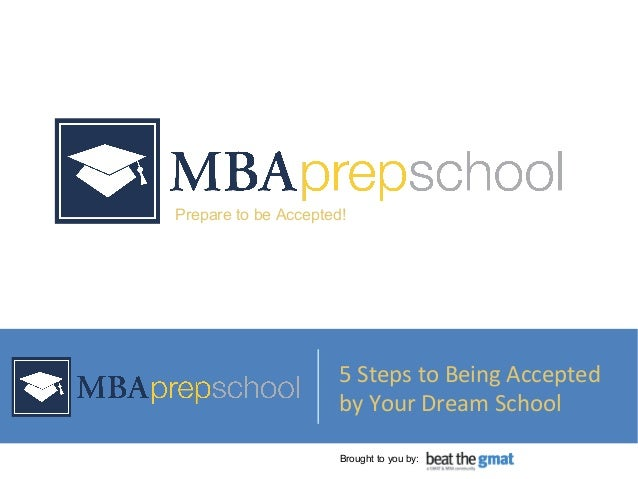 © 2010 Prep School Media, LLC. All Rights Reserved. Prepare to be Accepted! 5 Steps to Being Accepted by Your Dream School...