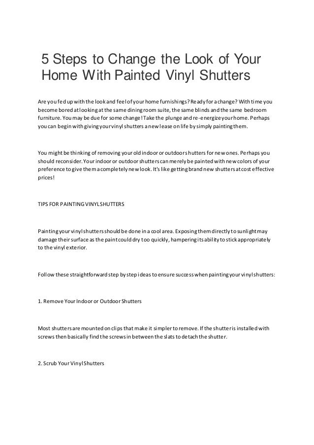 5 steps to change the look of your home with painted vinyl ...