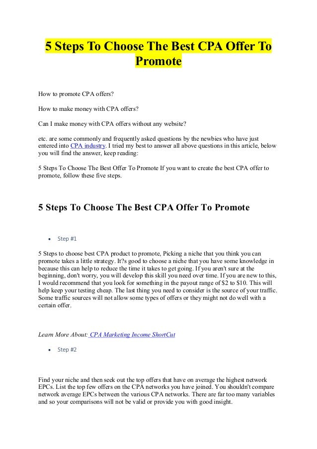 68f37809802d95 5 Steps To Choose The Best CPA Offer To Promote How to promote CPA offers?