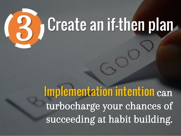 how to create a plan to create a new habit