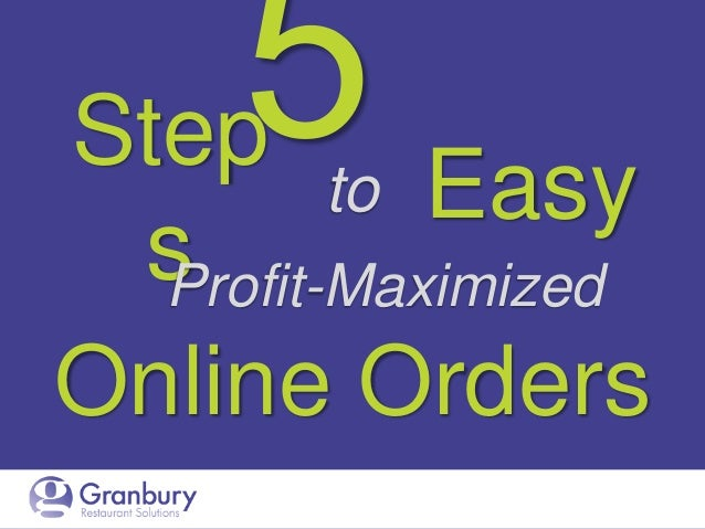 Step to Easy s Profit-Maximized Online Orders